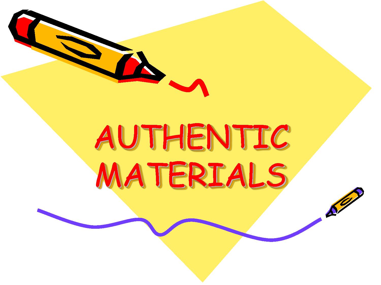 Authentic material